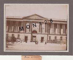 PARIS MUSEE DU LOUVRE-PHOTO DE 1900 NON COLLEE 9x12 Cms - Lieux