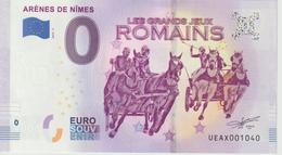 Billet Touristique 0 Euro Souvenir France 30 Arènes De Nimes 2019-3 N°UEAX001040 - Private Proofs / Unofficial