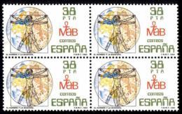España. Spain. 1984. B4. El Hombre Y La Biosfera. The Man And The Biosphere. Leonardo Da Vinci - 1981-90 Nuevos & Fijasellos
