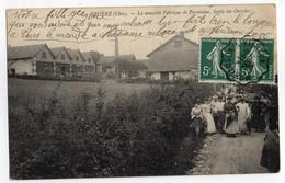 CPA  18   BRUERE   1908         NOUVELLE FABRIQUE DE PORCELAINE       SORTIE DES OUVRIERS - France