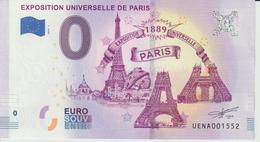 Billet Touristique 0 Euro Souvenir France 75 Exposition Universelle De Paris 2019-1 N°UENA001552 - EURO