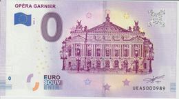 Billet Touristique 0 Euro Souvenir France 75 Opéra Garnier 2019-2 N°UEAS000989 - Essais Privés / Non-officiels