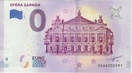Billet Touristique 0 Euro Souvenir France 75 Opéra Garnier 2019-2 N°UEAS000991 - Essais Privés / Non-officiels