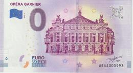 Billet Touristique 0 Euro Souvenir France 75 Opéra Garnier 2019-2 N°UEAS000992 - Essais Privés / Non-officiels