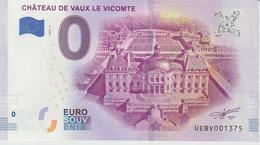 Billet Touristique 0 Euro Souvenir France 77 Chateau De Vaux Le Vicomte 2019-2 N°UEBV001375 - Essais Privés / Non-officiels