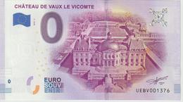 Billet Touristique 0 Euro Souvenir France 77 Chateau De Vaux Le Vicomte 2019-2 N°UEBV001376 - Essais Privés / Non-officiels