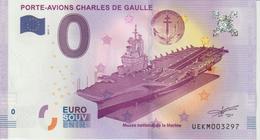 Billet Touristique 0 Euro Souvenir France 83 Toulon Porte-Avions C De Gaulle 2017-1 N°UEKM003297 - Essais Privés / Non-officiels