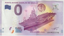 Billet Touristique 0 Euro Souvenir France 83 Toulon Porte-Avions C De Gaulle 2017-1 N°UEKM003298 - Essais Privés / Non-officiels