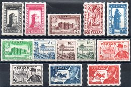 FEZZAN - YT N° 43 à 55 - Neufs * - MH - Cote: 56,00 € - Fezzan (1943-1951)