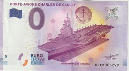 Billet Touristique 0 Euro Souvenir France 83 Toulon Porte-Avions C De Gaulle 2017-1 N°UEKM003299 - Essais Privés / Non-officiels