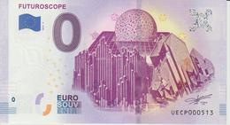 Billet Touristique 0 Euro Souvenir France 86 Futuroscope 2019-3 N°UECP000513 - Essais Privés / Non-officiels