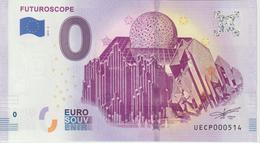 Billet Touristique 0 Euro Souvenir France 86 Futuroscope 2019-3 N°UECP000514 - Essais Privés / Non-officiels