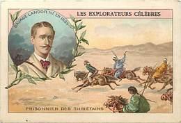 - Chromos -ref-ch740- Les Explorateurs Célèbres - Savage Landor - Prisonnier Des Thibetains - Thibet - Tibet - - Trade Cards