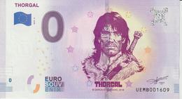 Billet Touristique 0 Euro Souvenir France Personnage De BD Thorgal 2019-3 N°UEMB001609 - Essais Privés / Non-officiels