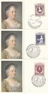 ÖSTERREICH 1980 - MiNr: 1638-1640 Komplett 3 Belege Maria Theresia - Königshäuser, Adel