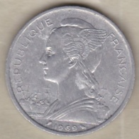 ILE DE LA REUNION. 5 FRANCS 1969. ALUMINIUM - Réunion