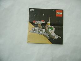 LEGO  SOLO MANUALE ISTRUZIONI COSTRUZIONE LEGO SPACE CLASSIC 891 - Cataloghi