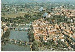 BEZIERS (34). Vue Aérienne Avec Les (3) Ponts Sur Orb. La Cathédrale St. Nazaire - Beziers