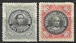 EQUATEUR   -     Télégraphe    -    1900.  Y&T N° 23 / 24 (*) - Equateur