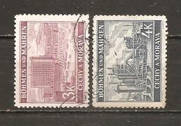 Bohemia Y Moravia. Nº Yvert  33-34 (usado) (o) - Usados