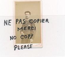 PHOTO ORIGINALE EN CDV De L'artiste Peintre Et Illustrateur GEORGES CLAIRIN Mort à Clohars Carnoët En 1919 ( Nadar Paris - Photos