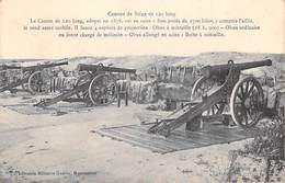 MILITARIA  Canons De Siège De 120 Long  (GUERRE 1914 Canon  Artillerie) Librairie Militaire Guérin Mourmelon *PRIX FIXE - Materiale