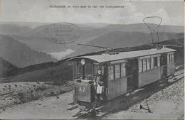 Cpa Train à Cremaillère Le HOHNECK- Gérarmer Retournemer La Schlut Le Hhoneck Gros Plan - Trains