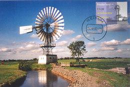 D37035 CARTE MAXIMUM CARD FD 2002 NETHERLANDS - WIND MOTOR AT WEIDUM CP REPROCARD - Moulins