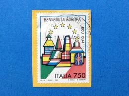 1993 ITALIA BENVENUTA EUROPA FRANCOBOLLO USATO STAMP USED - 6. 1946-.. Repubblica