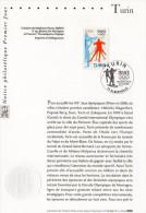 """"""" J.O. DE TURIN """" Sur Notice Officielle 1er Jour De 2006 De FRANCE. N° YT 3876. Parfait état. - Winter 2006: Torino"""
