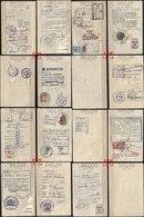 JUDAICA ISRAEL PASSPORT , SEPARATE PAGES, REVENUE STAMP, VISAS, 1958 - Historische Dokumente