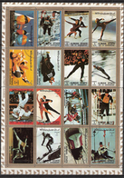 Ajman Sports Winter And Summer, Minisheet, Cancelled(o) - Ajman