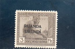 RUANDA-URUNDI 1924-5 * - Ruanda-Urundi