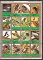Umm Al-Qiwain Minisheet Insects Cancelled(o) - Umm Al-Qiwain
