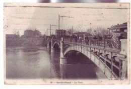93 - SAINT OUEN - LE PONT - ATTELAGE - ANIMÉE - - Saint Ouen