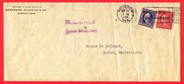 USA, 1921, Houston TX,  Zürich - Etats-Unis