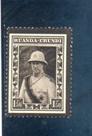 RUANDA-URUNDI 1934 * - Ruanda-Urundi