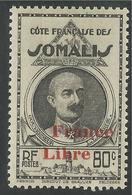 COTE FRANCAISE DES SOMALIS 1942 YT 219* - Unused Stamps