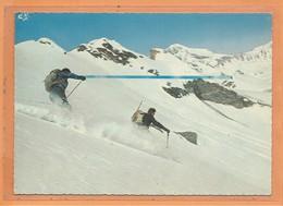 CPSM Grand Format - Ski De Printemps à VAL D'ISERE - TIGNES - Joie Et Ivresse De La Descente - Francia