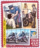 Italia 2017 - Usato - 70º Anniversario Della Polizia Stradale - Bolaffi Nr. 3932 (ita330) - 6. 1946-.. Repubblica