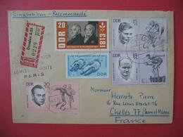Enveloppe  1965  Recommandé Avec Cachet Du Centre Des Douaniers  Pour La France - [6] République Démocratique