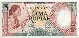Indonesia 5 Rupiah, P-55 (1958) - UNC - Indonesien