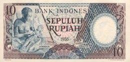 Indonesia 10 Rupiah, P-56 (1958) - UNC - Indonesien
