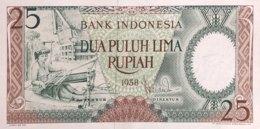Indonesia 25 Rupiah, P-57 (1958) - UNC - Indonesien