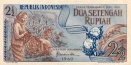 Indonesia 2 1/2 Rupiah, P-77 (1960) - UNC - Indonesien