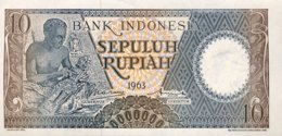 Indonesia 10 Rupiah, P-89 (1963) - UNC - Indonesien