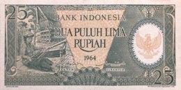 Indonesia 25 Rupiah, P-95 (1964) - UNC - Indonesien