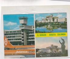 EL DORADO. BOGOTA, COLOMBIA, MULTIVISTA. ASPECTO MODERNO DEL AEROPUERTO INTERNACIONAL. CPA CIRCA 1960s - BLEUP - Colombie