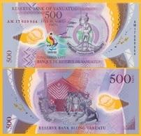 Vanuatu 500 Vatu P-new 2017 Commemorative Pacific Mini Games UNC Polymer Banknote - Vanuatu