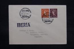"""ROYAUME UNI - Oblitération Maritime De Port Saïd Sur Enveloppe Pour Kingston En 1947, Griffe """" Iberia """" - L 28358 - Postmark Collection"""